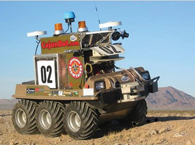 CajunBot in the 2005 Defense Advanced Research Projects Agency Grand Challenge.