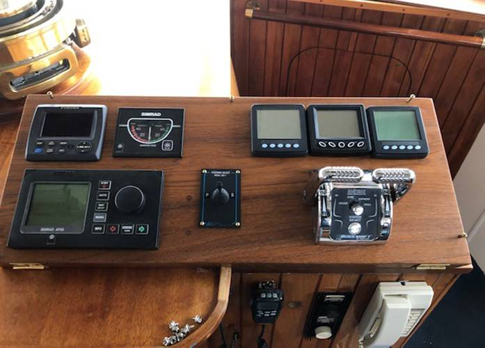 The new control panel replaced the old brass controls. Courtesy of The Boat Company