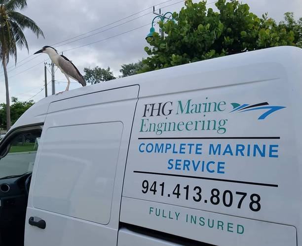 FHGME services yachts in South Florida. Photo courtesy FHGME.