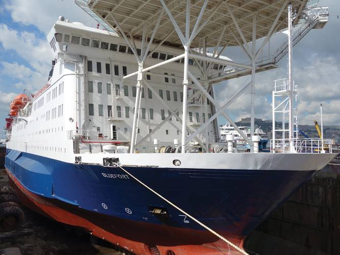 Highclere Ltd, the new owners of the Bluefort, has recently completed continued conversion upgrades to their 141 meter, 450 man vessel in Naples, Italy with the help of Alternative Marine Technologies (Amtech).