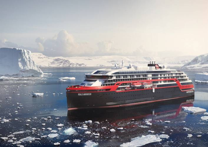 Hurtigruten's hybrid vessels. (Images Courtesy: Hurtigruten)
