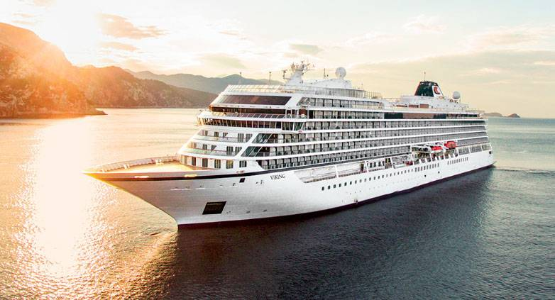A hydrogen-powered cruise ship may be modeled on the same design as Viking Cruises' most recent vessel, the Viking Sun. (Photo: Viking Cruises)