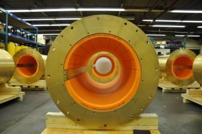 The largest COMPAC bearing to be supplied to the commercial ship sector (Photo: Thordon Bearings)