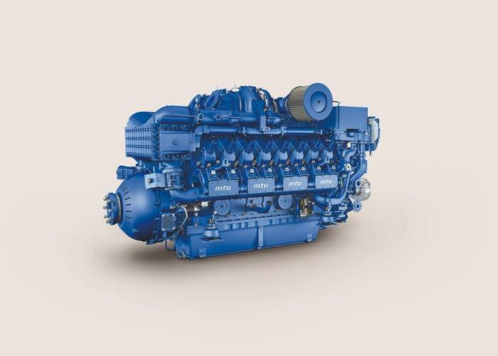 The new gas marine engine from MTU (Image: Rolls-Royce Power Systems)