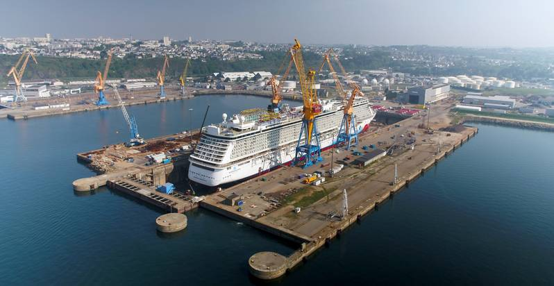 Norwegian Breakaway at Damen Shiprepair Brest (Photo: Damen)