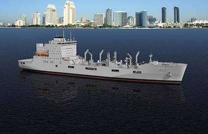 Rendering of the new generation of U.S. Navy oiler (Image: MAN Diesel & Turbo)