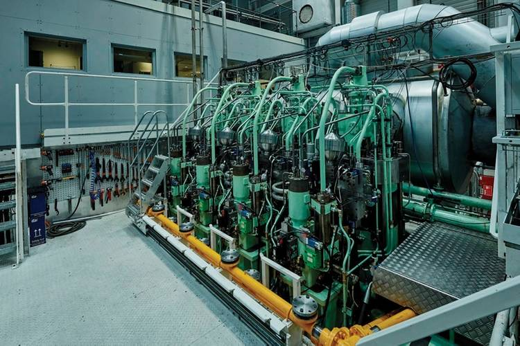Research engine at Research Center Copenhagen equipped for LPG use. Images: ©MAN ES