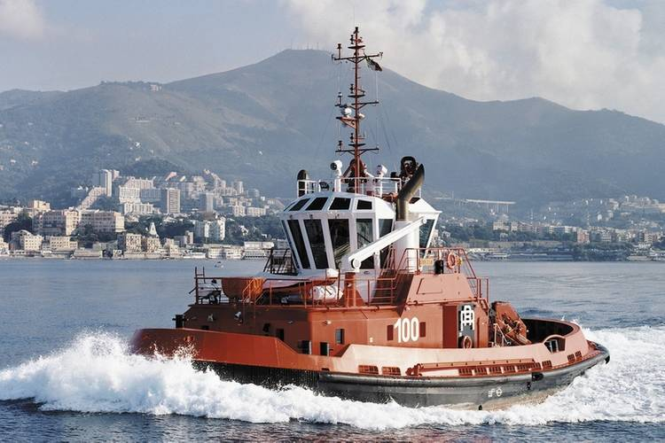 Rimorchiatori Riuniti's new tug boat will be powered by the Wärtsilä HY hybrid power module. Shown here is the tug boat Svezia, owned by the same company, and which is also equipped with a Wärtsilä solution. (Photo: Wärtsilä)