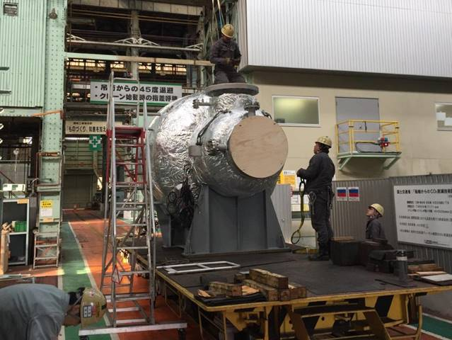 The SCR-HP reactor at Mitsui's Tamano works (Photo: MAN Energy Solutions)