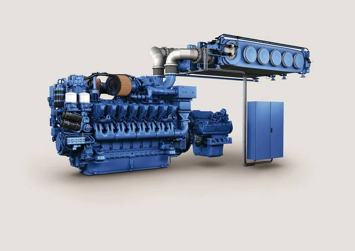 MTU Series 4000 with SCR: Customers benefit from a perfectly integrated concept for IMO Tier III comprising an MTU drive and SCR system which is compact and which offers an excellent power-to-weight ratio. (Image: MTU)