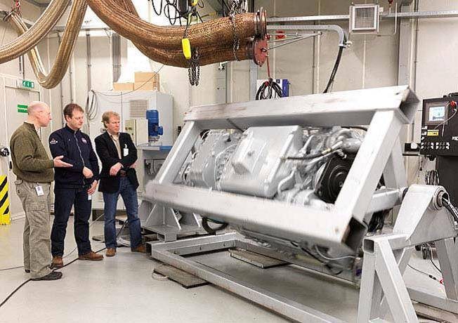 The MTU Series 2000 is rolled over 360 degrees during testing at MTU Benelux.