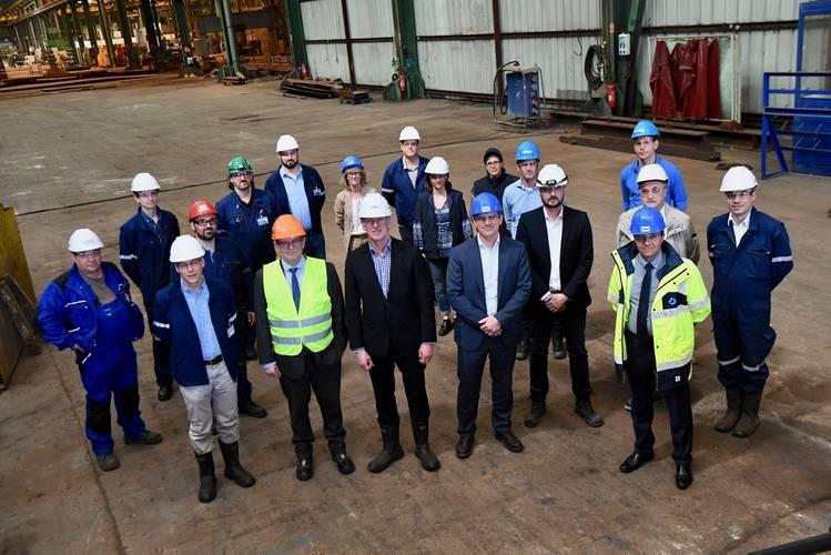 Steel Cutting Ceremony (Photo: Damen Shipyards)