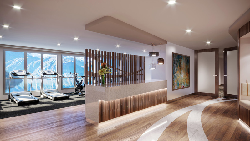 WELLNESS: This will be the new wellness area on board MS Otto Sverdrup. PHOTO: HURTIGRUTEN