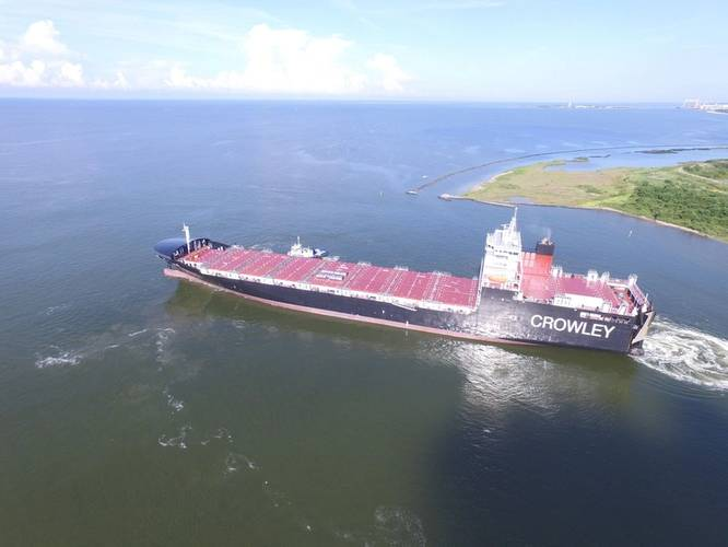 El Coquí is one of the world's first ConRo ships powered by LNG (Photo: Crowley)