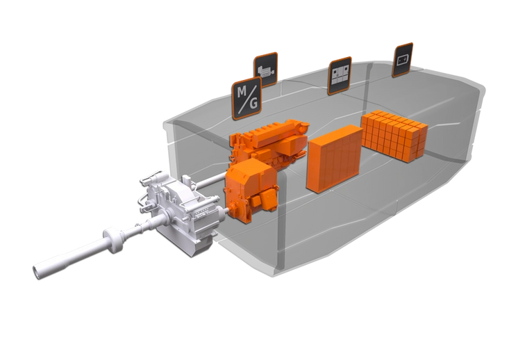 The Wärtsilä HY is a fully integrated hybrid power module in a diesel-mechanical configuration. (Image: Wärtsilä)