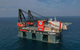 World's largest crane vessel Heerema Sleipnir with a lifting capacity of 2x10,000 metric tonnes. Copyright: Heerema